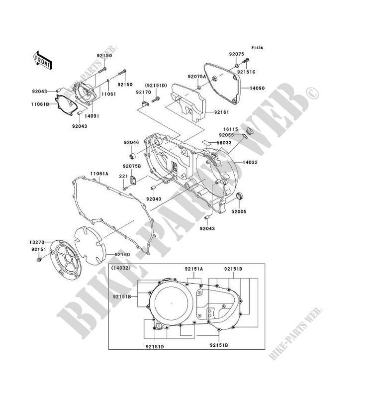 CARTER MOTEUR DROIT(S) pour Kawasaki VN1600 CLASSIC TOURER