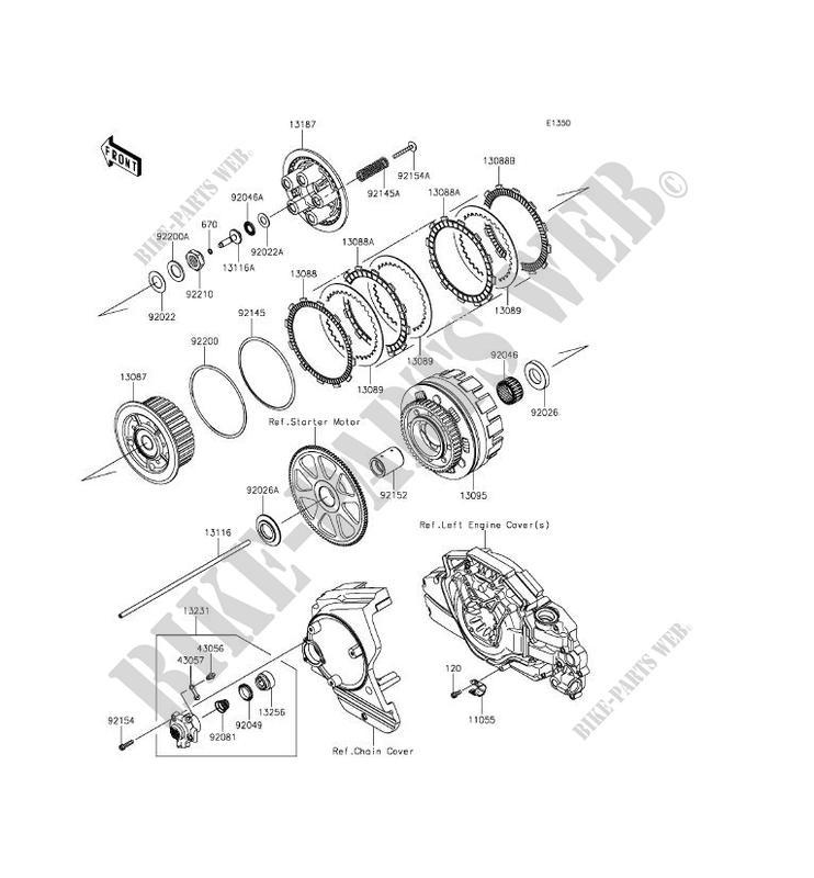 EMBRAYAGE pour Kawasaki VULCAN 1700 VOYAGER ABS 2013