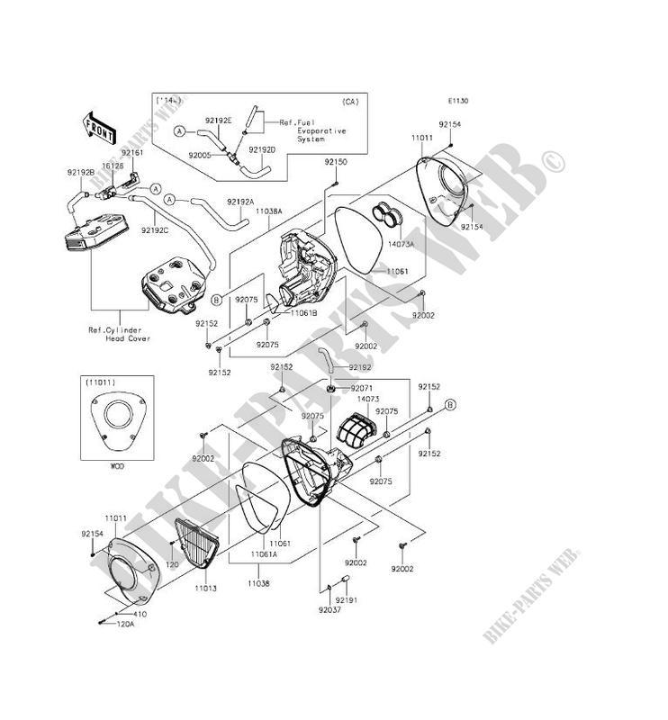 FILTRE A AIR pour Kawasaki VULCAN 1700 VOYAGER CUSTOM ABS