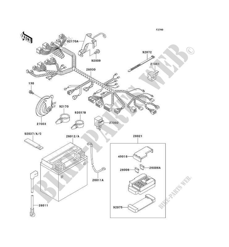 CHASSIS EQUIPMENT ELECTRIQUE pour Kawasaki VN800 CLASSIC