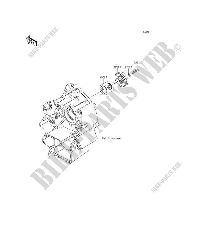 POMPE A EAU VN900BFF VULCAN 900 CLASSIC 2015 900 MOTOS