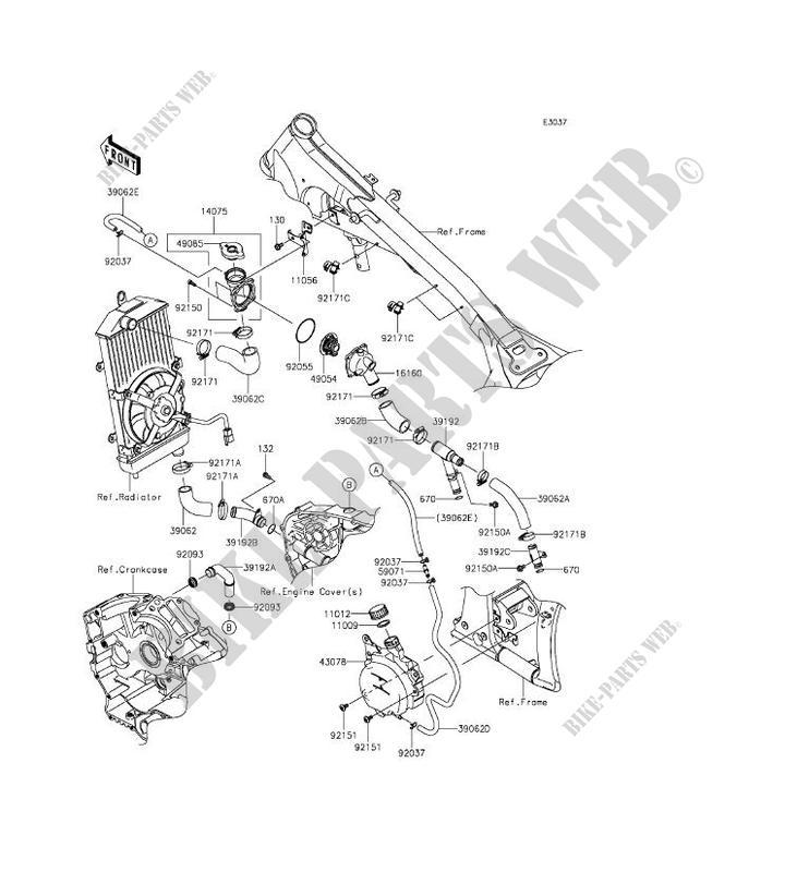 TUYAU Dx 39EAU VN900BFF VULCAN 900 CLASSIC 2015 900 MOTOS