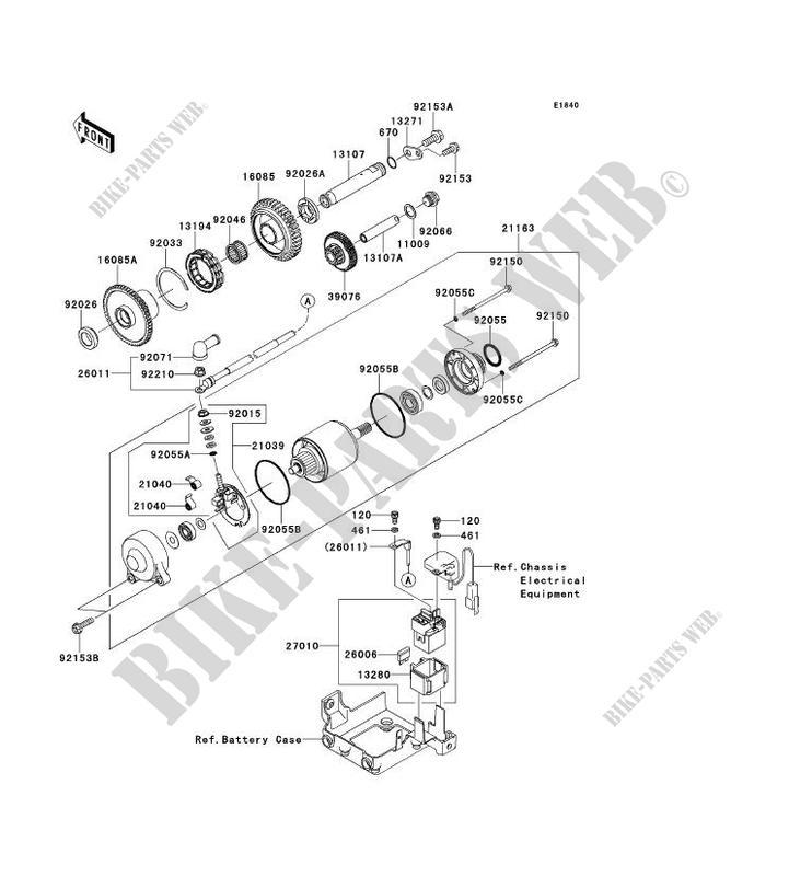 DEMARREUR ZG1400A8F 1400GTR ABS 2008 1400 MOTOS Kawasaki