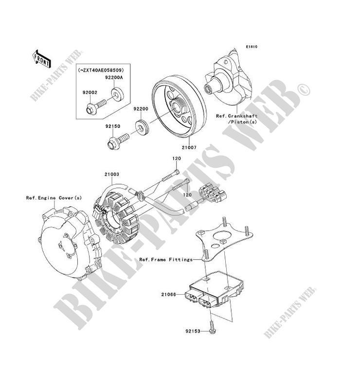 GENERATEUR ZG1400CDF 1400GTR ABS 2013 1400 MOTOS Kawasaki