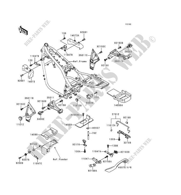 SUPPORT BATTERIE ZR1100 A1 ZEPHYR 1100 1992 1100 MOTOS