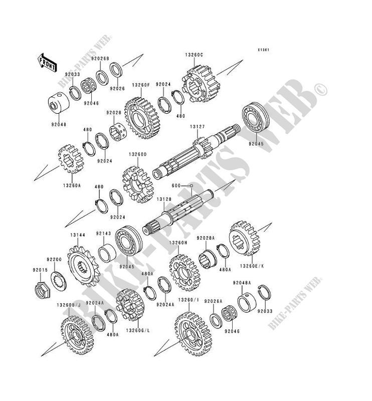 TRANSMISSION ZR1100 A1 ZEPHYR 1100 1992 1100 MOTOS