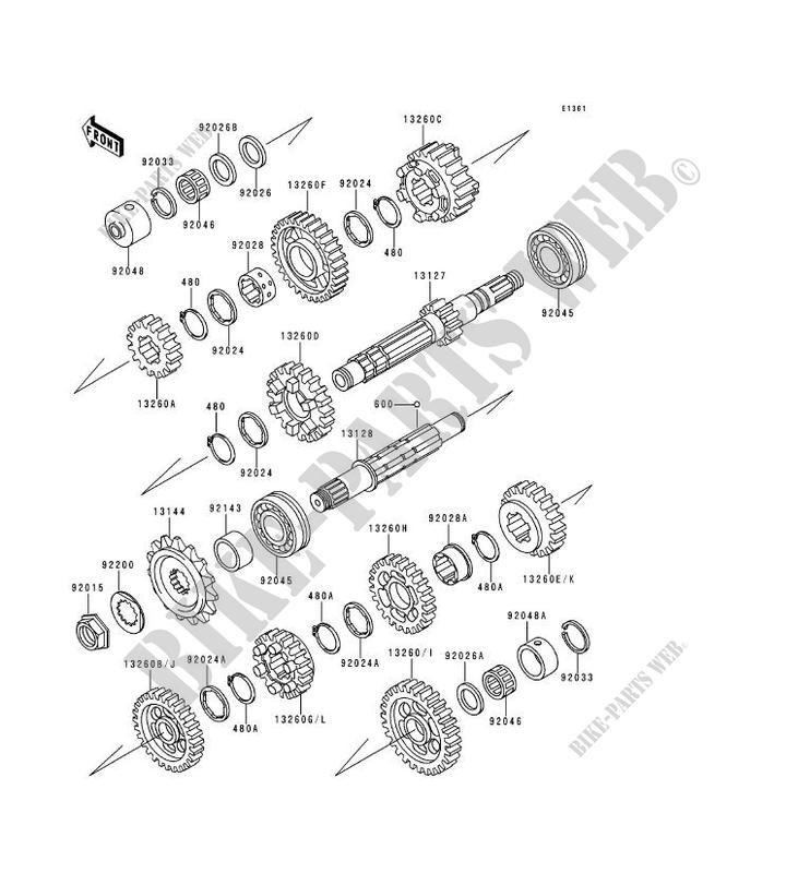 TRANSMISSION ZR1100 A2 ZEPHYR 1100 1993 1100 MOTOS