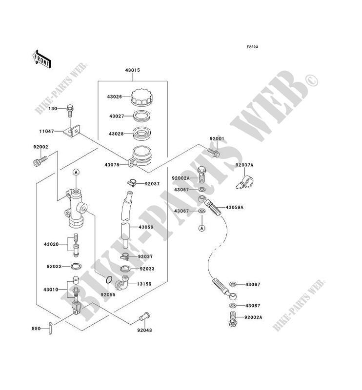 MAITRE CYLINDRE ARRIÈRE pour Kawasaki ZEPHYR 1100 1996
