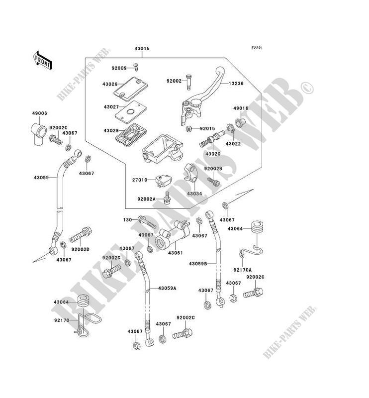 MAITRE CYLINDRE AV ZR1100 C1 ZRX1100 1997 1100 MOTOS