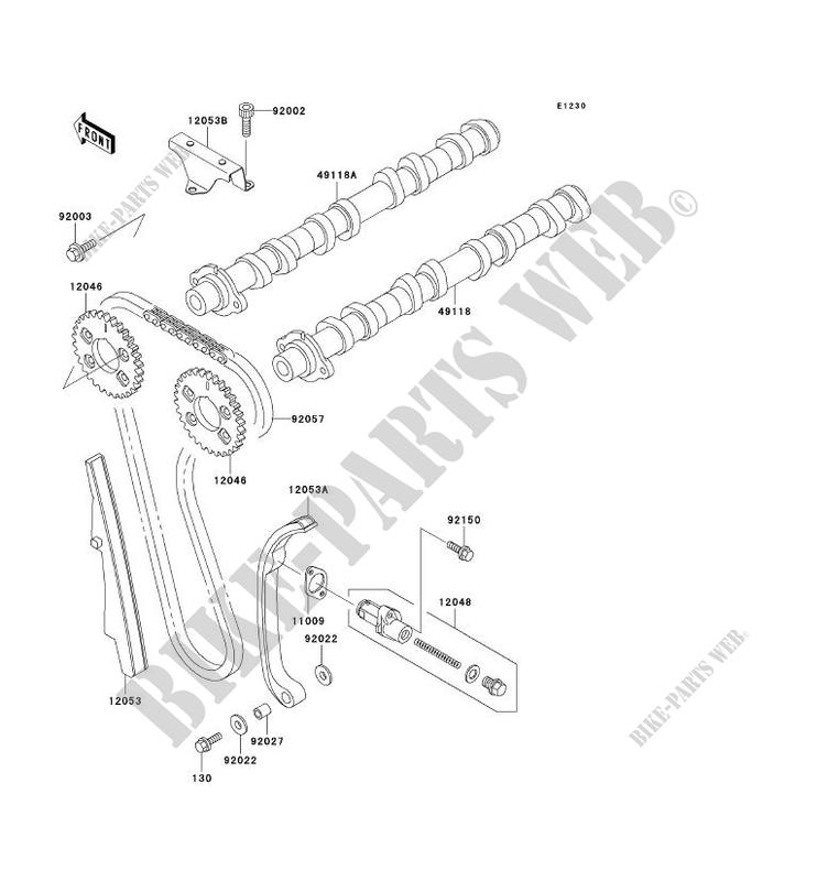 ARBRE A CAME TENDEUR ZR1100 C3 ZRX1100 1999 1100 MOTOS