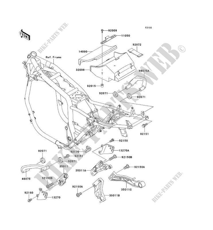 SUPPORT BATTERIE ZR1100 C3 ZRX1100 1999 1100 MOTOS