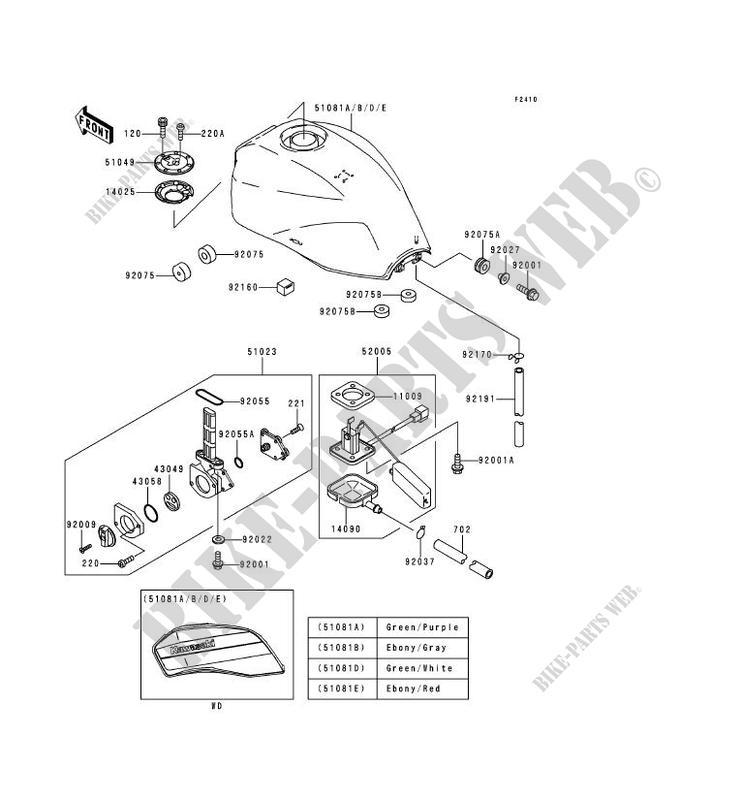 RESERVOIR CARBURANT pour Kawasaki ZRX1100 2000 # KAWASAKI