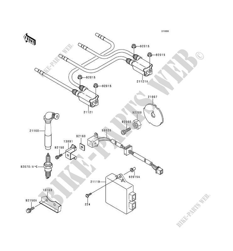 SYSTEME D´ALLUMAGE pour Kawasaki ZRX1100 2000 # KAWASAKI