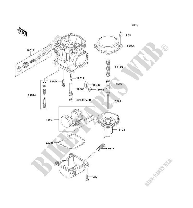 PIÈCES DE CARBURATEUR pour Kawasaki ZRX1100 2000