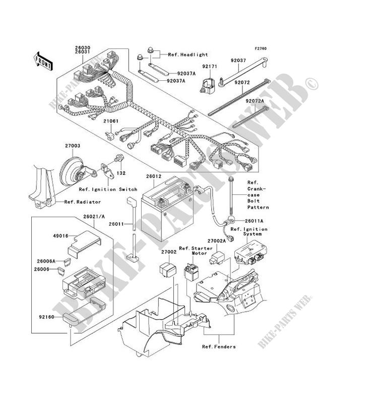 CHASSIS EQUIPMENT ELECTRIQUE pour Kawasaki ZRX1200R 2002