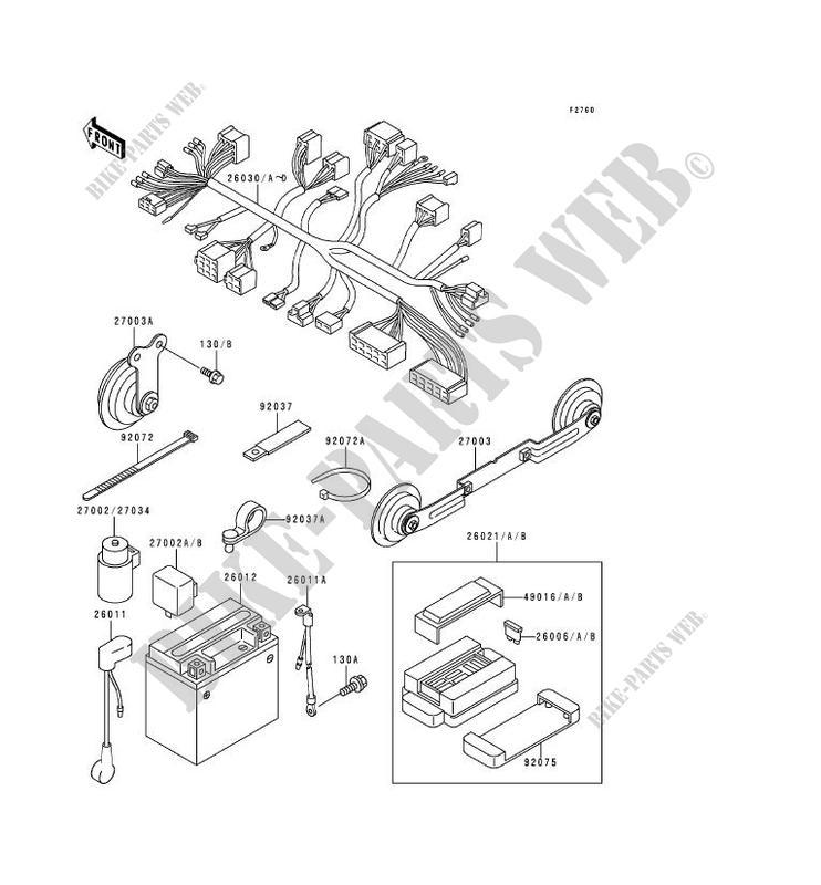 EQUIPEMENT ELECTRIQUE ZR750 C2 ZEPHYR 750 1992 750 MOTOS