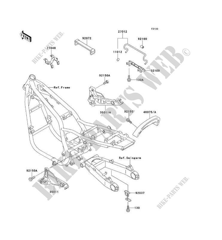 SUPPORT BATTERIE ZR750 D1 ZEPHYR 750 1996 750 MOTOS