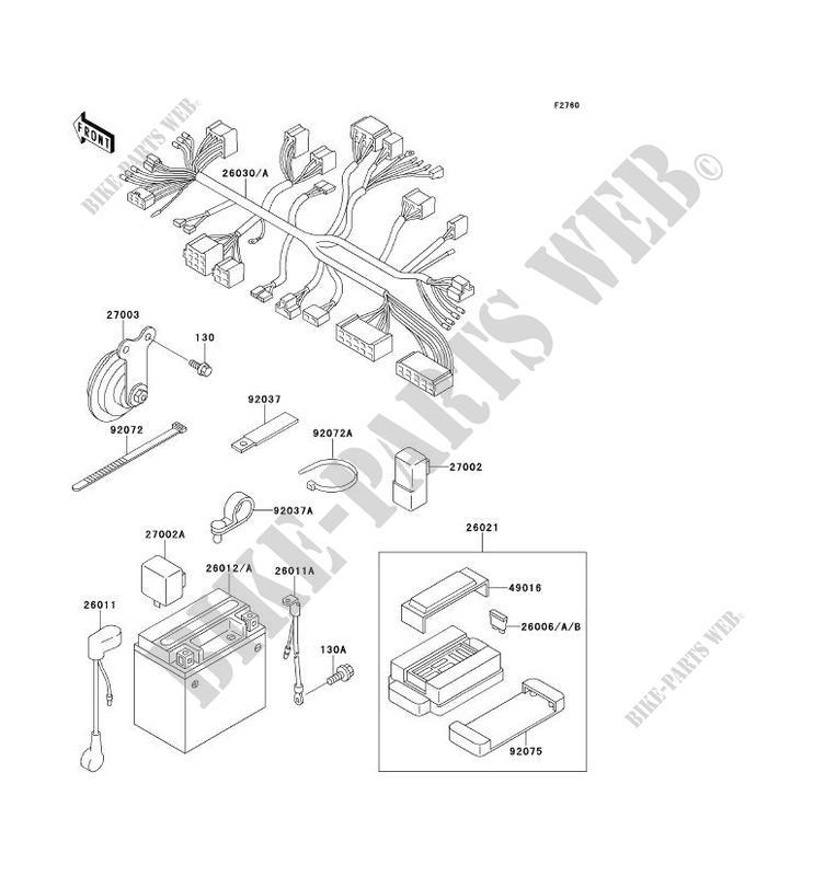 CHASSIS EQUIPMENT ELECTRIQUE ZR750 D1 ZEPHYR 750 1996 750