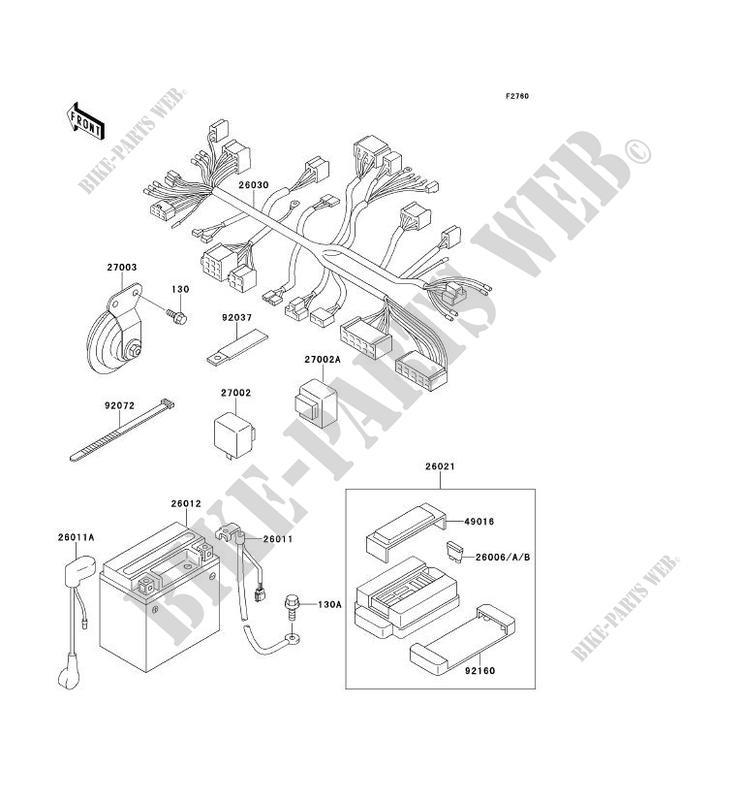 CHASSIS EQUIPMENT ELECTRIQUE ZR750 F3 ZR 7 2001 750 MOTOS