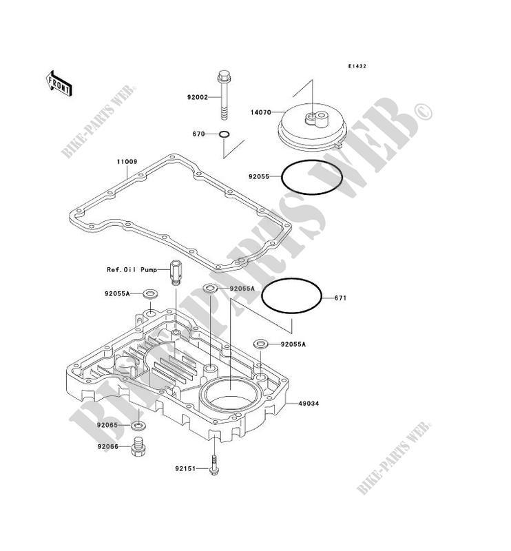 COUVERCLE RENIFLARD/CARTER D'HUILE pour Kawasaki ZR-7S