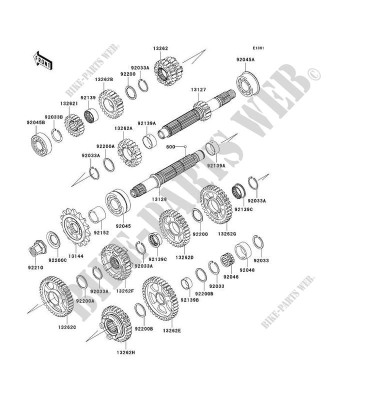 TRANSMISSION ZX1000 C1H NINJA ZX 10R 2004 1000 MOTOS