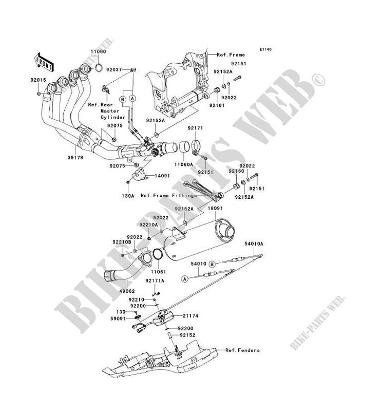 ECHAPPEMENT ZX1000 C1H NINJA ZX 10R 2004 1000 MOTOS