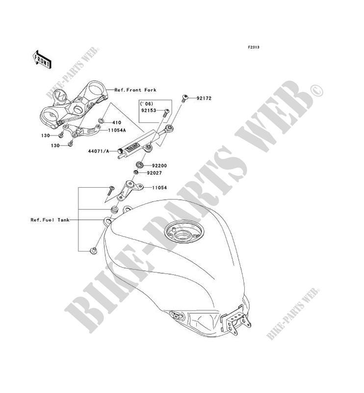 AMORTISSEUR DE DIRECTION pour Kawasaki NINJA ZX-10R 2006