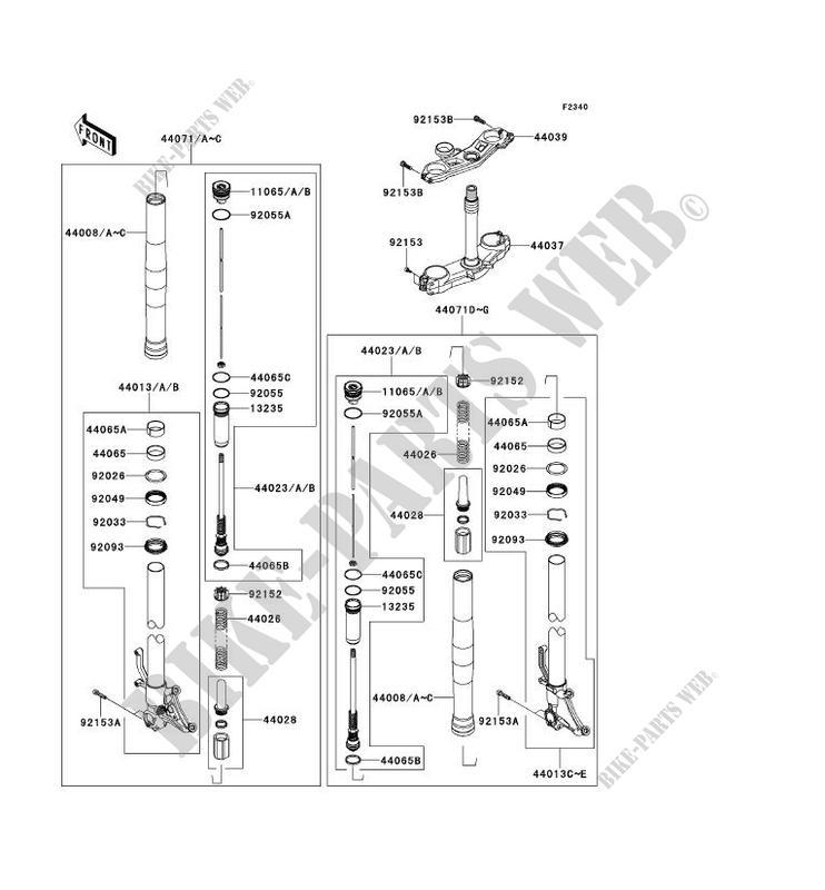 FOURCHE pour Kawasaki NINJA ZX-10R 2011 # KAWASAKI