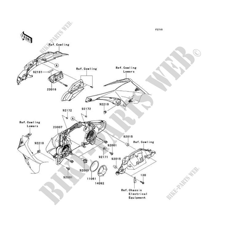 OPTIQUE(S) pour Kawasaki NINJA ZX-10R 2011 # KAWASAKI