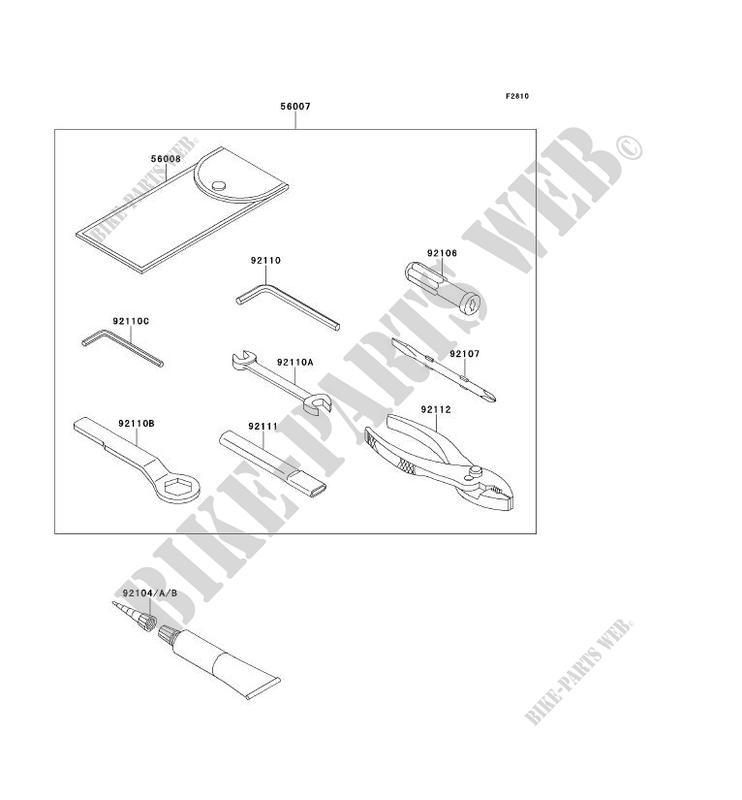 OUTIL UTILISATEUR pour Kawasaki NINJA ZX-10R 2011