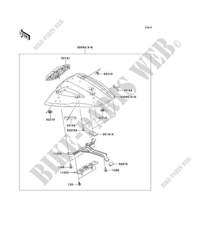 ACCESSOIRE (COUVRE SELLE) pour Kawasaki NINJA ZX-10R 2013