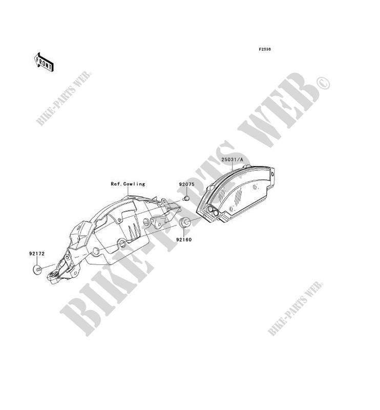 COMPTEURS pour Kawasaki NINJA ZX-10R ABS 2011 # KAWASAKI