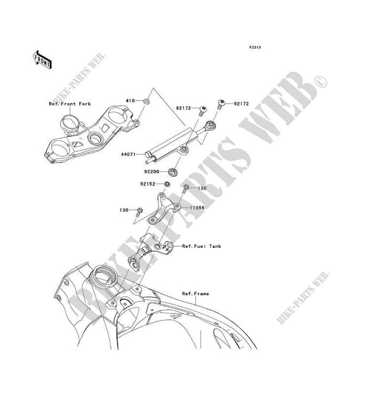 AMORTISSEUR DE DIRECTION pour Kawasaki NINJA ZX-10R ABS