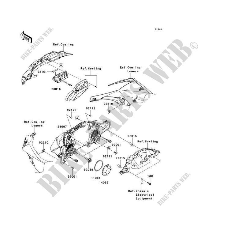 OPTIQUE(S) pour Kawasaki NINJA ZX-10R ABS 2011 # KAWASAKI