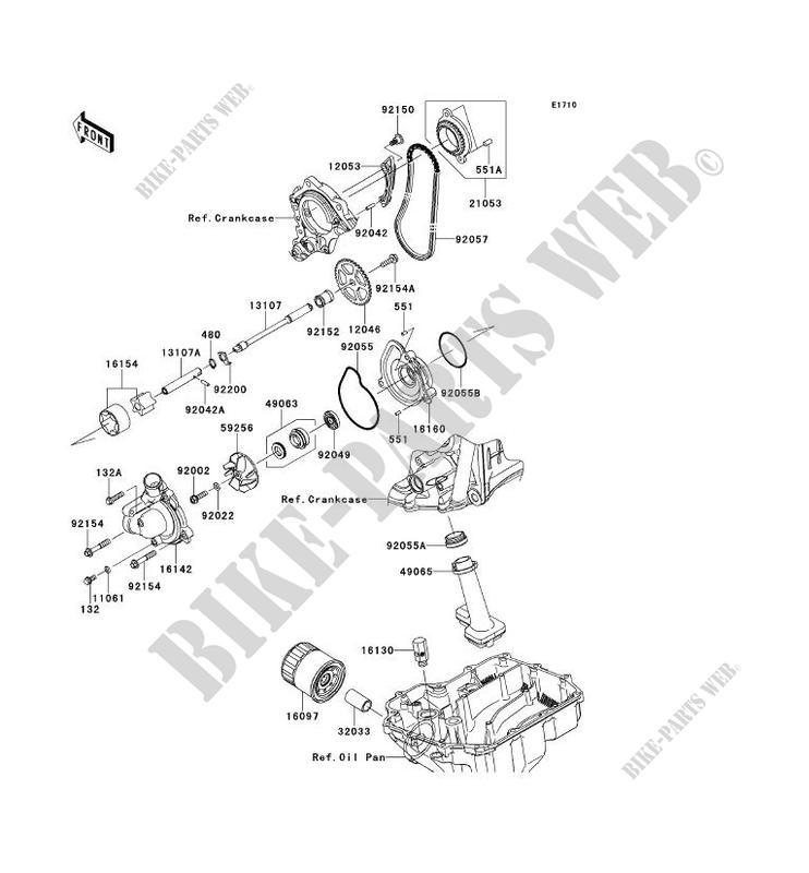 POMPE A HUILE ZX1000KCF NINJA ZX 10R ABS 2012 1000 MOTOS