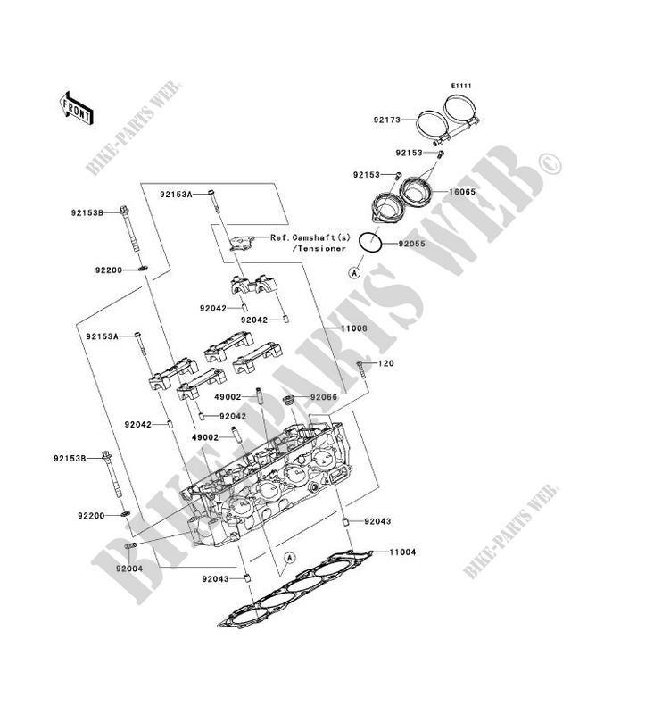 CULASSE ZX1000KCF NINJA ZX 10R ABS 2012 1000 MOTOS