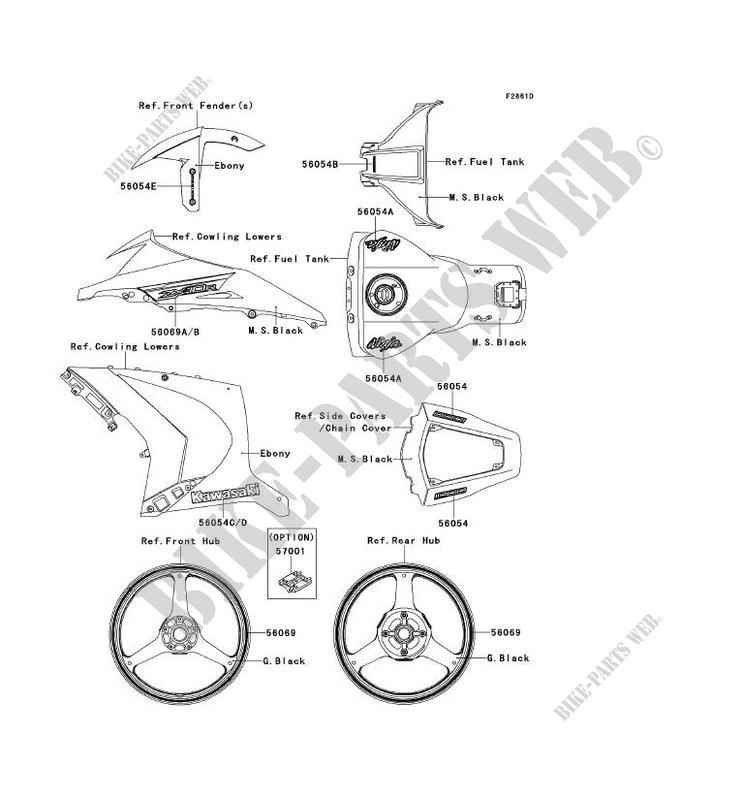 STICKER(F.EBONY) pour Kawasaki NINJA ZX-10R ABS 2013