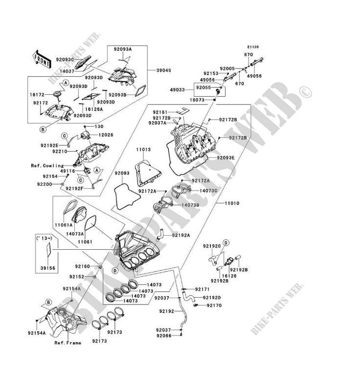 FILTRE A AIR pour Kawasaki NINJA ZX-10R ABS 2013