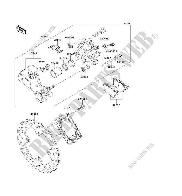 FREIN ARRIERE pour Kawasaki NINJA ZX-10R ABS 2013