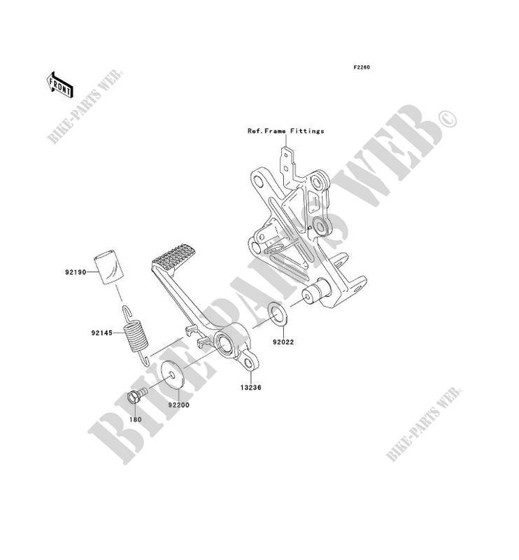 PEDALE DE FREIN pour Kawasaki NINJA ZX-10R ABS 2013