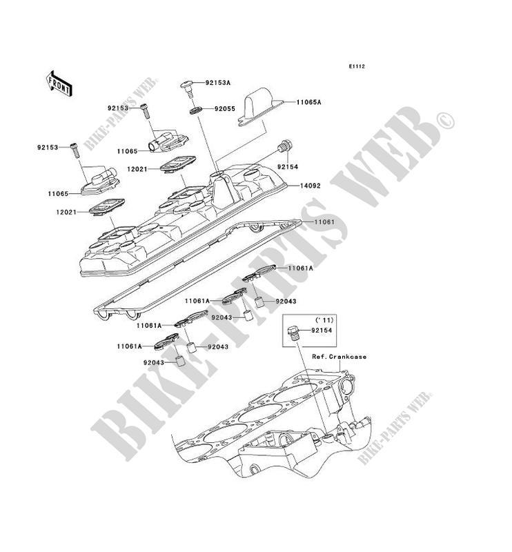 COUVRE CULASSE pour Kawasaki NINJA ZX-10R ABS 2014