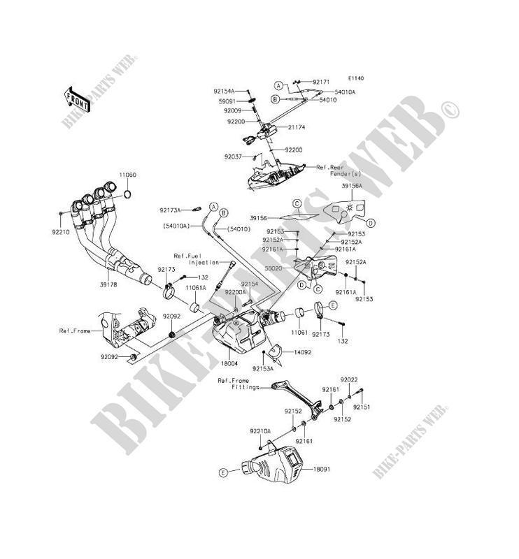 ECHAPPEMENT ZX1000KFF NINJA ZX 10R ABS 2015 1000 MOTOS