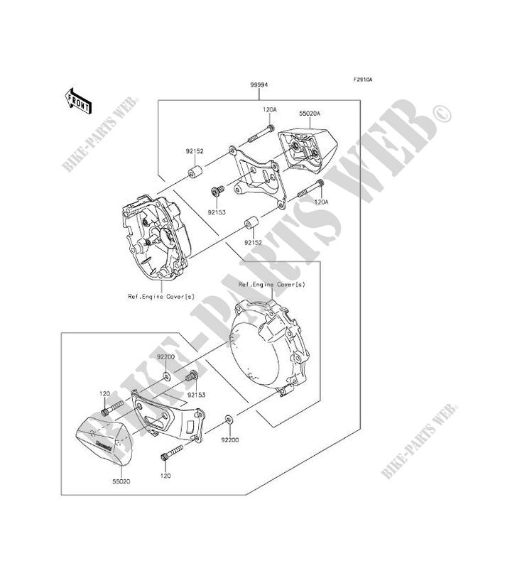ACCESSOIRE (PROTECTION MOTEUR) pour Kawasaki NINJA ZX-10R