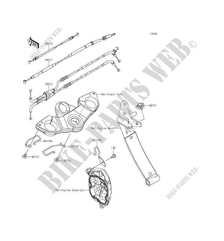 CABLES ZX1000MFF Z1000SX ABS 2015 1000 MOTOS Kawasaki moto