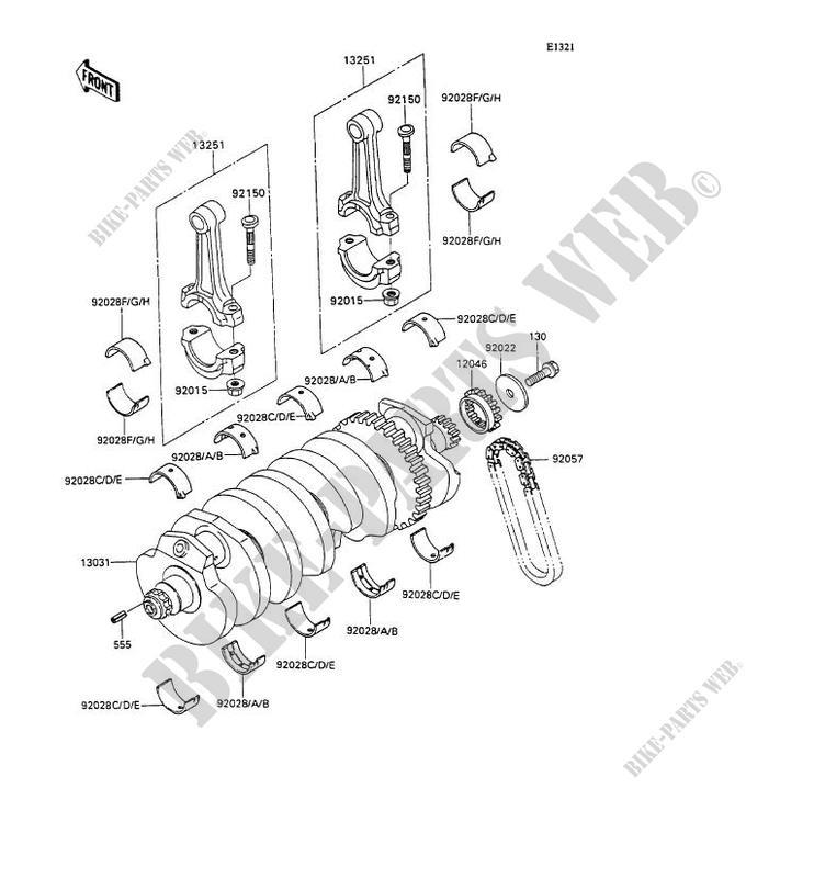 VILEBREQUIN ZX1100 C2 ZZR1100 1991 1100 MOTOS Kawasaki