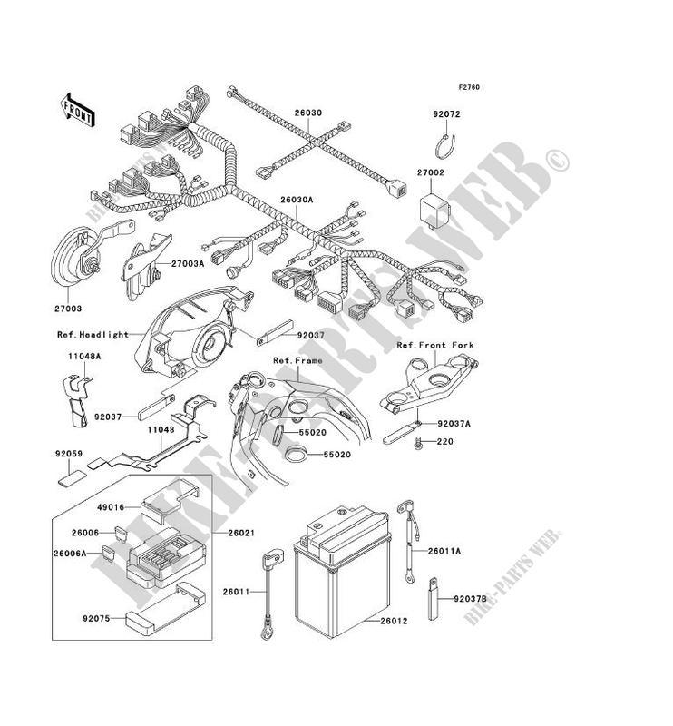 CHASSIS EQUIPMENT ELECTRIQUE ZX1100 D3 ZZR1100 1995 1100