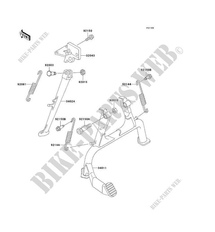 BEQUILLES ZX1100 D6 ZZR1100 1998 1100 MOTOS Kawasaki moto