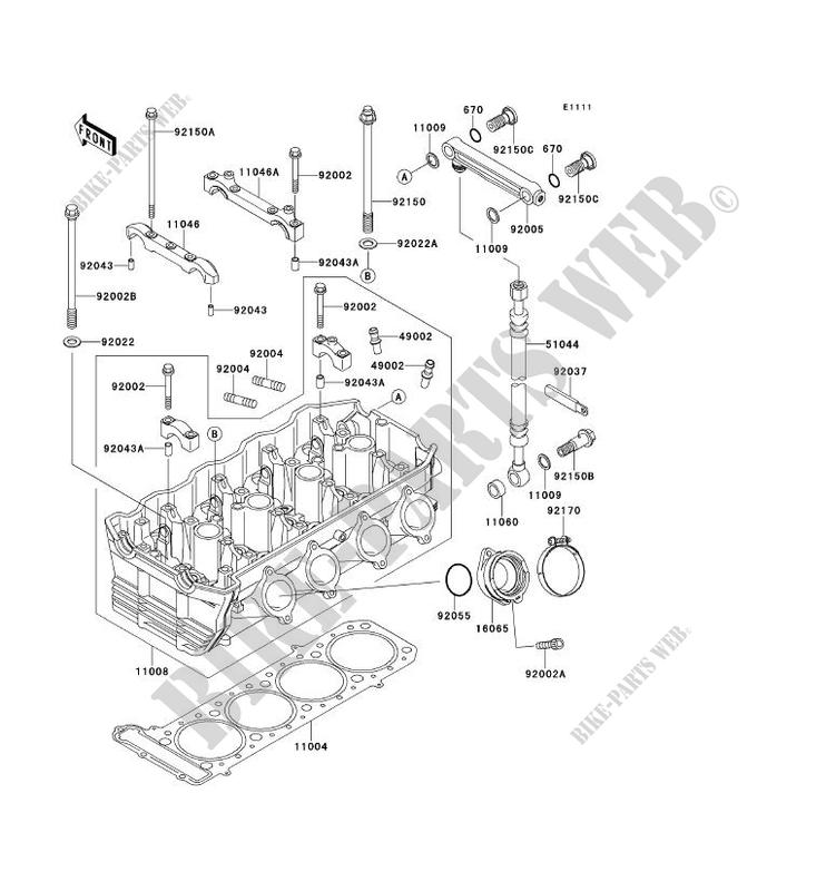 CULASSE ZX1100 F1 GPZ1100 ABS 1996 1100 MOTOS Kawasaki