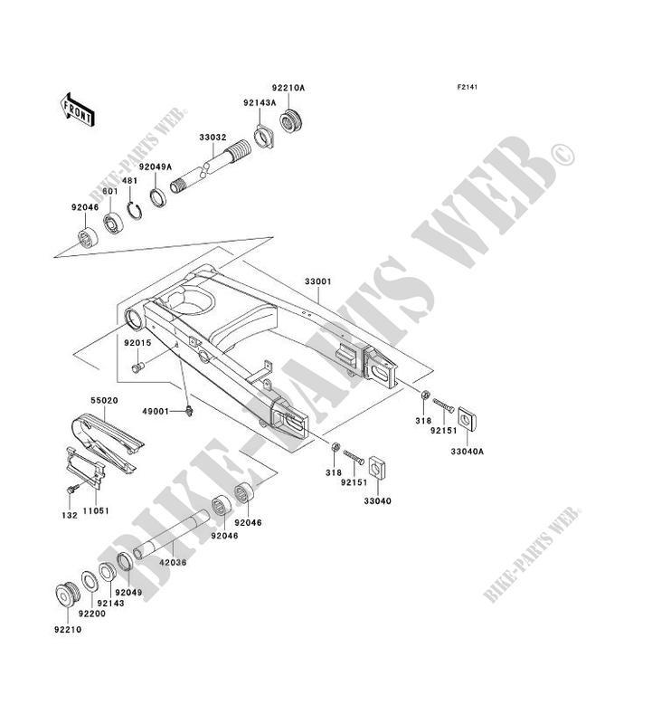 BRAS OSCILLANT ZX1200 A1H NINJA ZX 12R 2000 1200 MOTOS