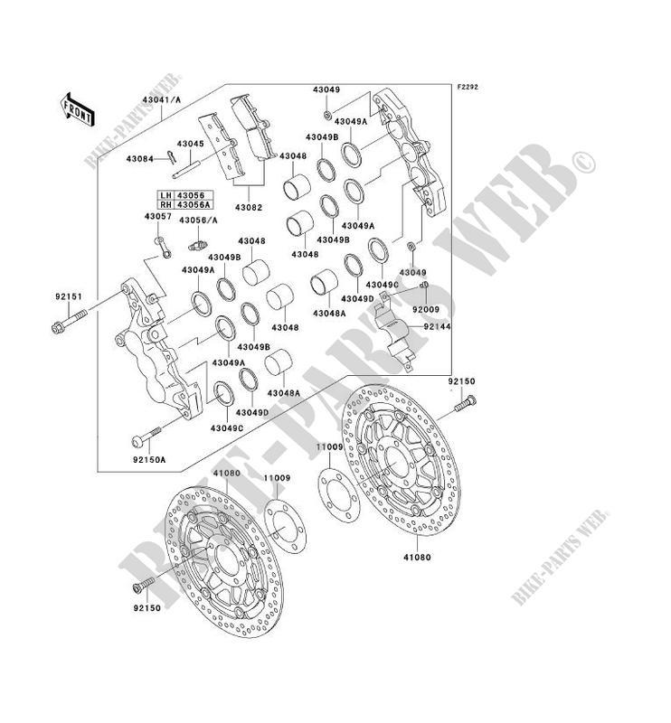 FREIN AVANT ZX1200 A1H NINJA ZX 12R 2000 1200 MOTOS